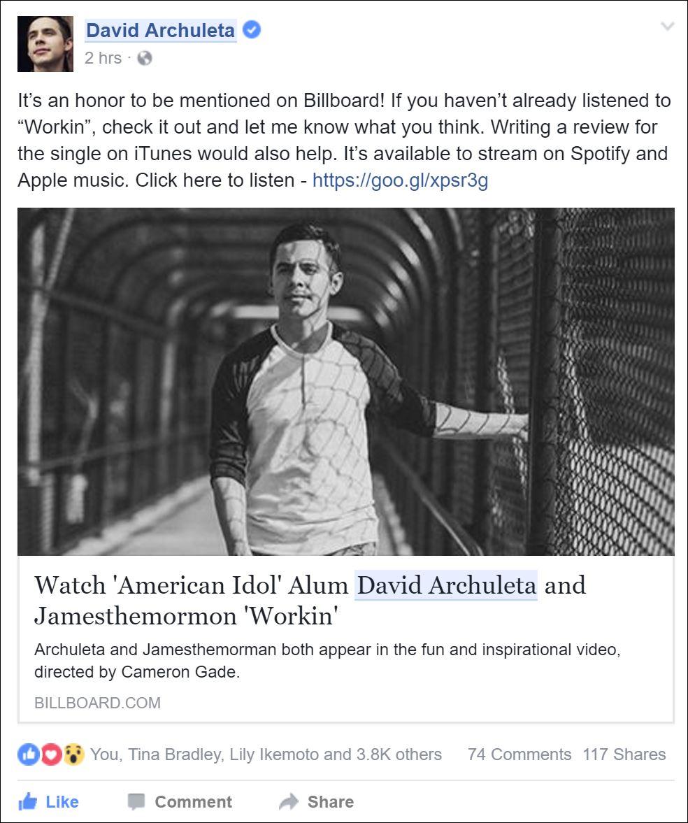 da facebook workin