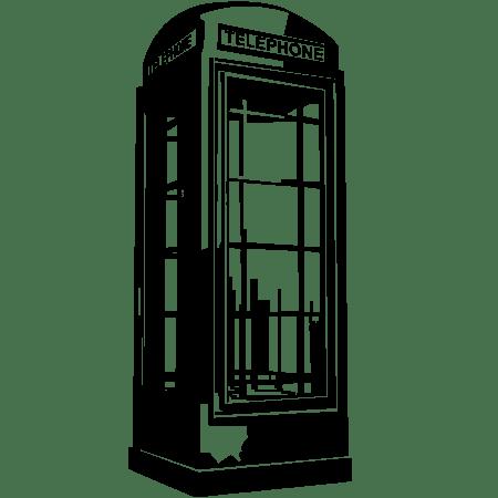 Наклейка виниловая на стену Лондонская телефонная будка ...