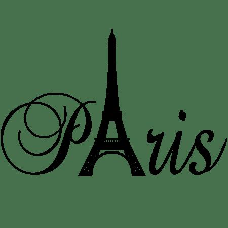 Наклейка виниловая на стену Париж | Интерьерные наклейки