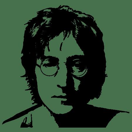 Наклейка виниловая на стену Джон Леннон | Интерьерные наклейки