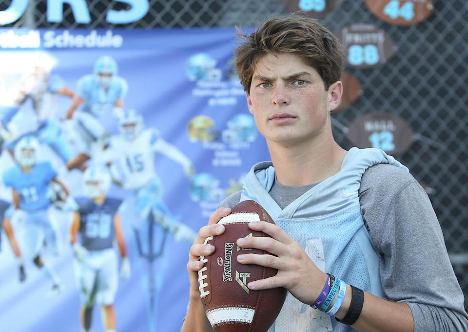 Former Corona del Mar High quarterback Ethan Garbers is among the transfers UCLA added during the offseason.