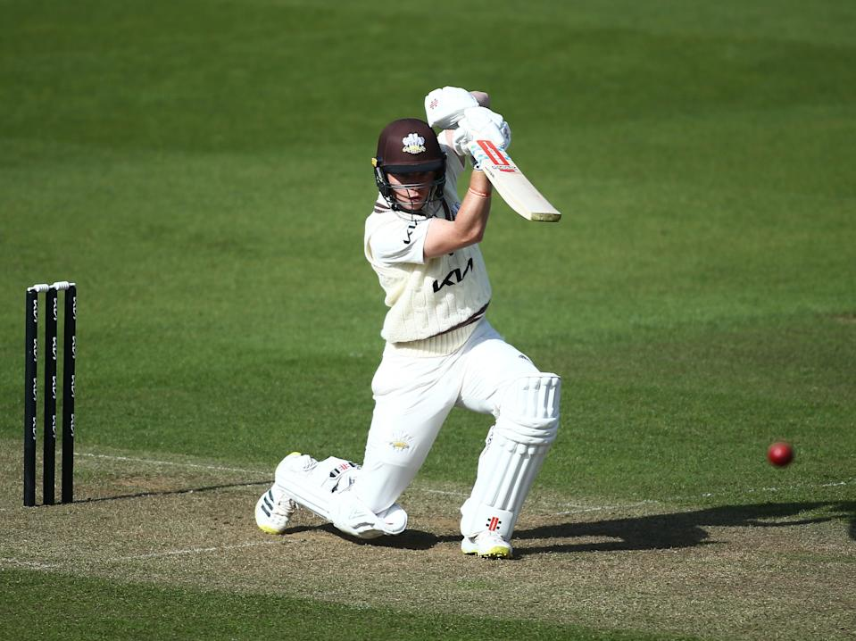 Ollie Pope in action for Surrey during a pre-season friendly (Getty Images for Surrey CCC)