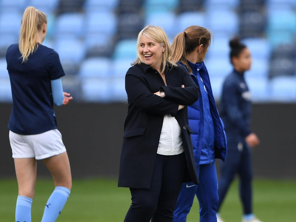 Chelsea manager Emma Hayes (Chelsea FC via Getty Images)