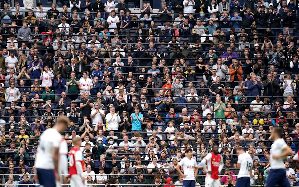 Clubs in the top two tiers of English football will be able to offer licensed standing areas at their grounds from January 1, 2022, if they have been approved as part of an 'early adopter' programme, the Sports Grounds Safety Authority has announced - PA