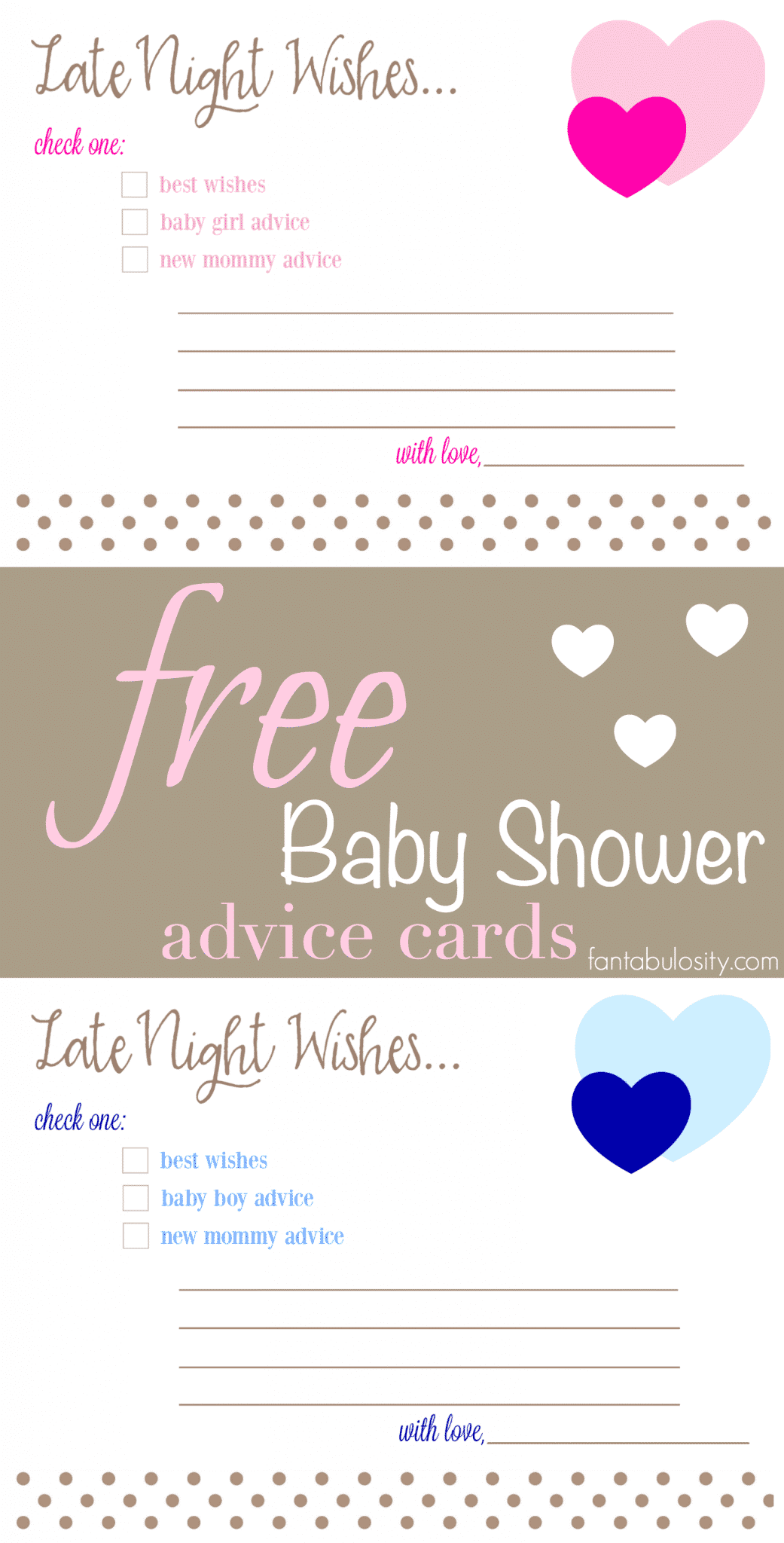 Free Printable Baby Shower Advice Amp Best Wishes Cards