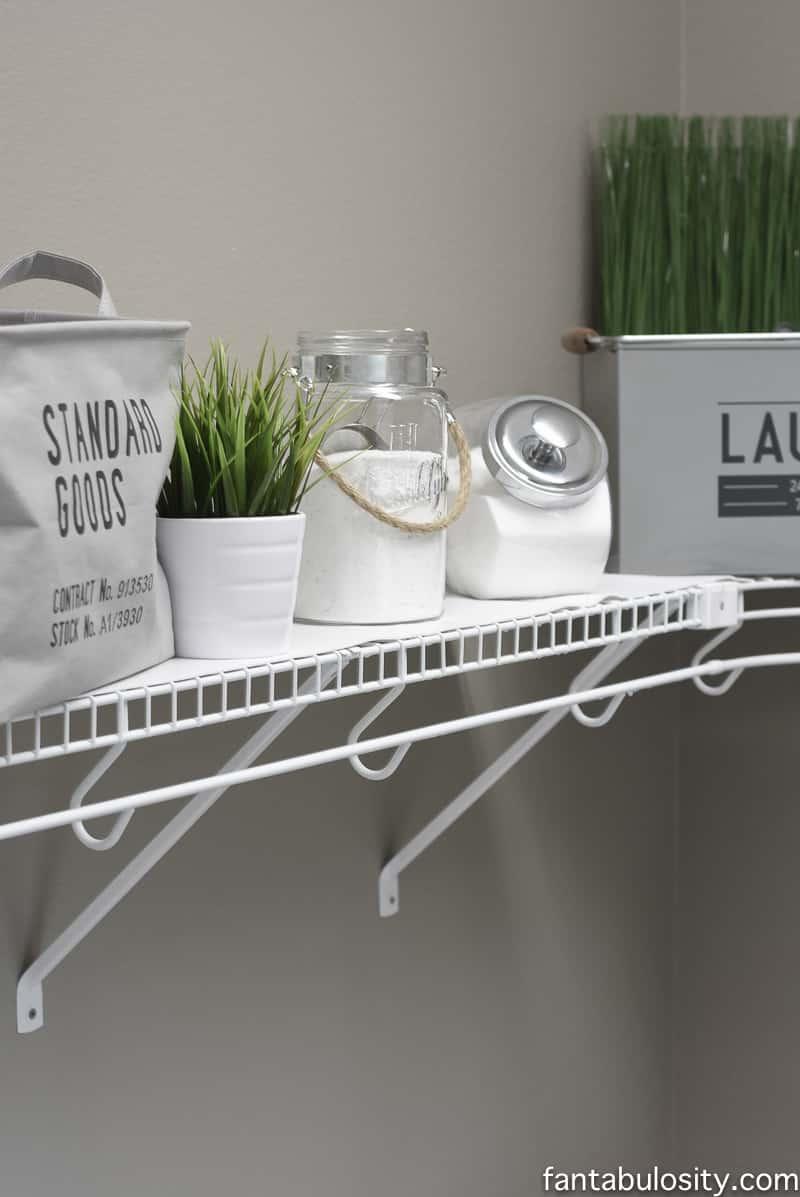 DIY Laundry Room Shelving & Storage Ideas - Fantabulosity on Laundry Decoration  id=36193