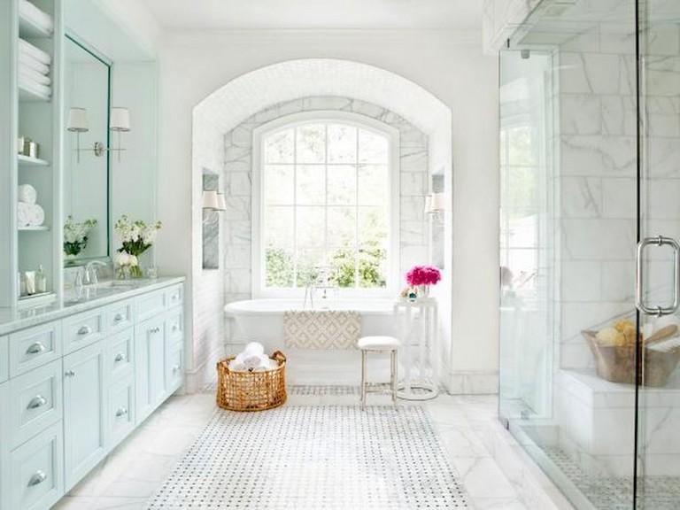47+ Awesome Farmhouse Bathroom Tile Floor Decor Ideas and ... on Farmhouse Tile Bathroom Floor  id=14305