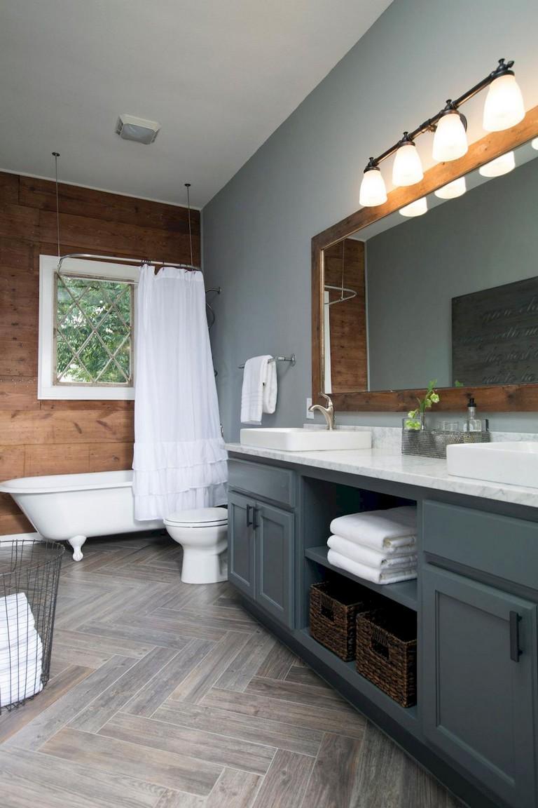 47+ Awesome Farmhouse Bathroom Tile Floor Decor Ideas and ... on Farmhouse Tile Bathroom Floor  id=11135
