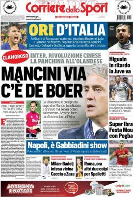 rassegna stampa corriere dello sport