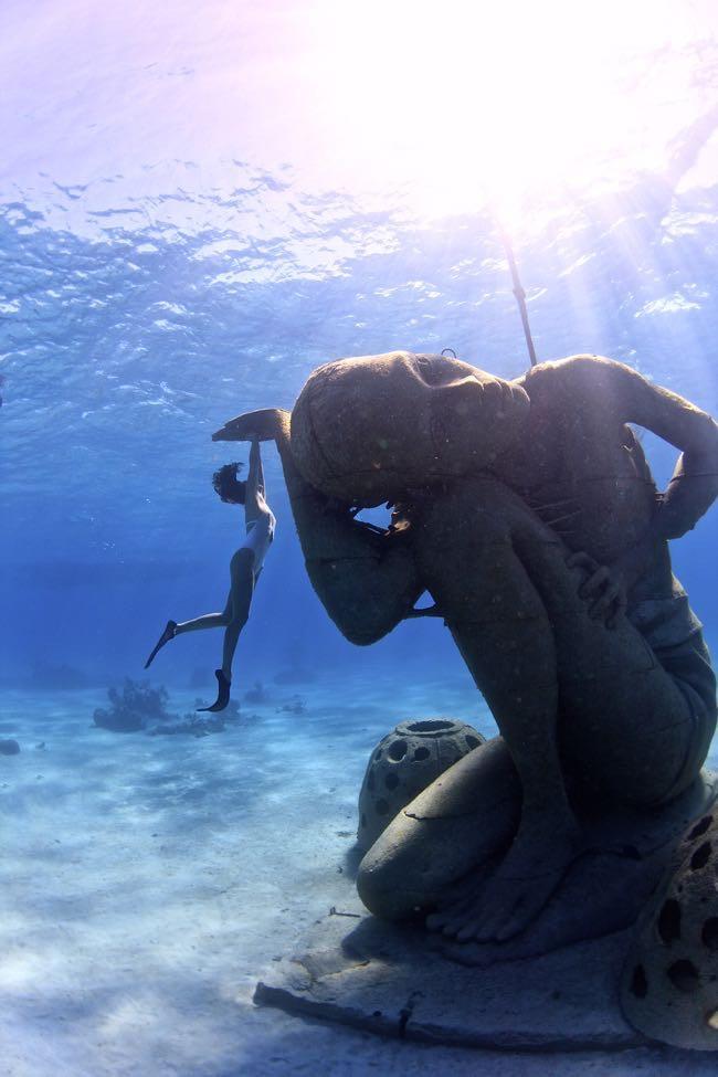 Underwater Statue