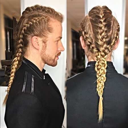 Blonde Braided long for men - long hairstyles for men