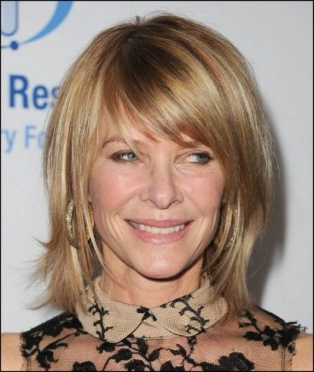 Medium layered with bangs-hairstyles for women over 50