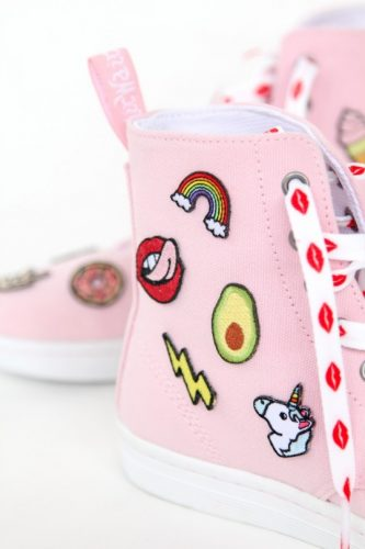 Patch Patterned Shoes - fabulous shoe makeovers