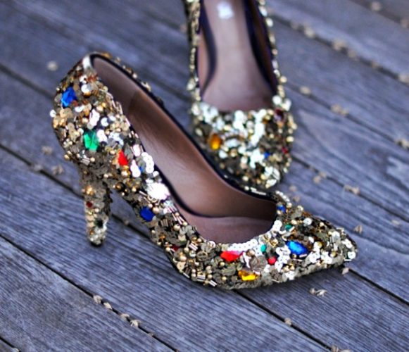 Embellished Shoes - fabulous shoe makeovers