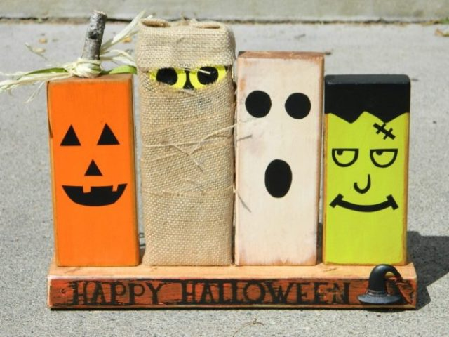 Wooden Halloween Décor - Kid-Friendly Halloween DIY Projects
