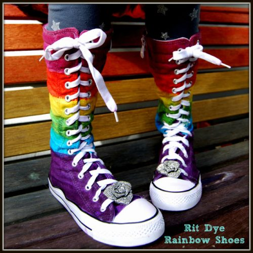 Rainbow Shoes - fabulous shoe makeovers