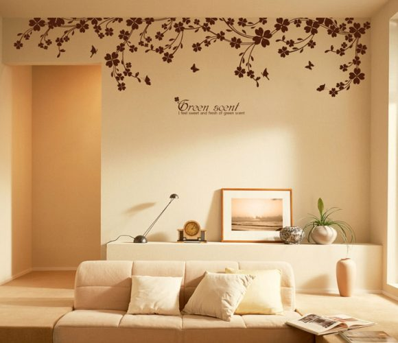 Creative Decal styled wall - creative gallery wall ideas