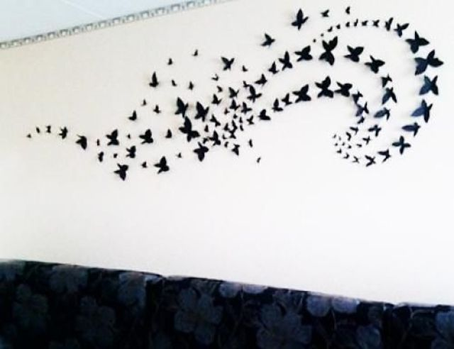 Paper crafts - creative gallery wall ideas
