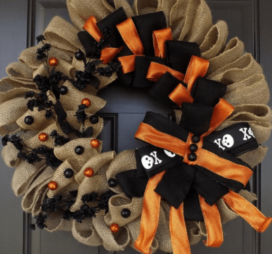 Unique handmade decoration - Ghostly Handmade Halloween Wreath Ideas