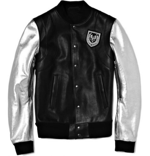Leather Bomber by Balmain - expensive leather jackets