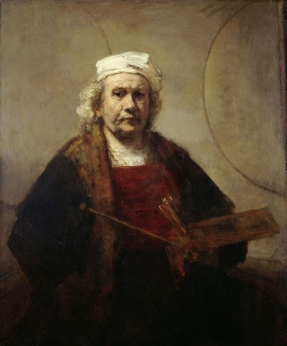 Rembrandt – Self-Portrait with Two Circles (c 1665-9) - most famous paintings