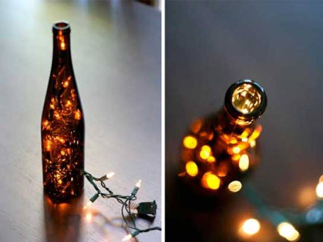 Fairy Lights Wine Bottle