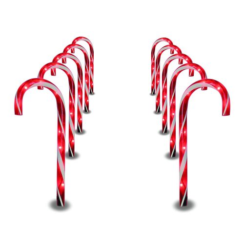 Prextex Candy Cane Pathway Markers - Cheap Christmas Decorations
