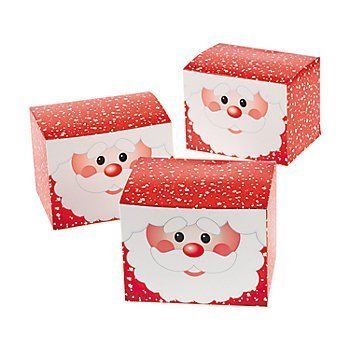 Fun Express Santa Gift Boxes - Christmas Cookie Tins