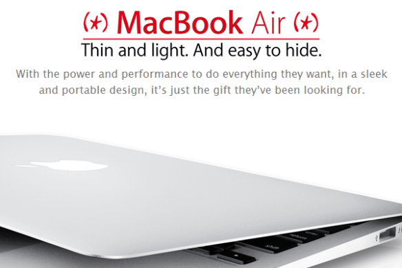 MacBook Air - easy to hide