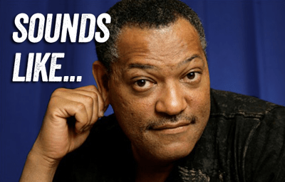 """sounds like..."" depicted by Laurence Fishburne 