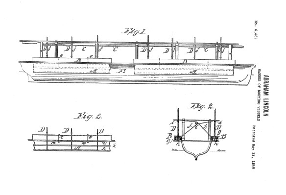 drawings from Abraham Lincoln's patent