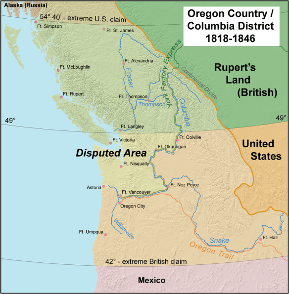 Oregon Country during the boundary dispute years