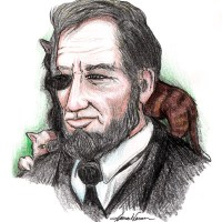 Abe Lincoln was a cat lover. One month before he was assassinated he stopped a meeting with General Ulysses S. Grant to make sure three kittens were okay.
