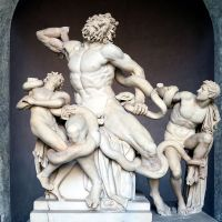 In 1506, a 1000+ year old statue was unearthed. The main figure, Laocoön, was missing an arm. The pope commissioned a contest to find who would recreate the missing arm best. Michelangelo's version lost. In 1906 the original arm was found and in nearly the exact pose Michelangelo had sculpted.