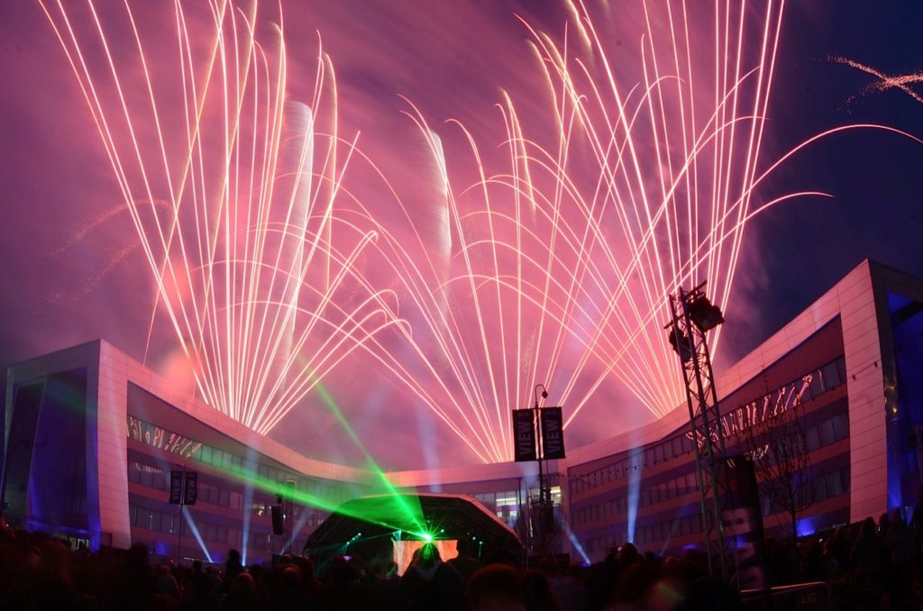 Professional fireworks displays | VW Finance HQ launch Milton Keynes