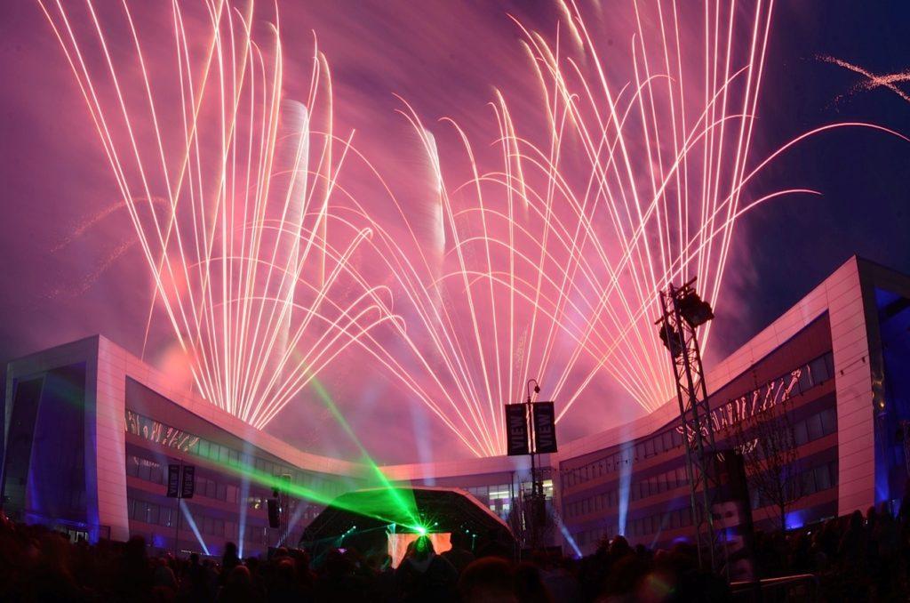 Professional fireworks displays | VW Finance HQ launch Milton Keynes