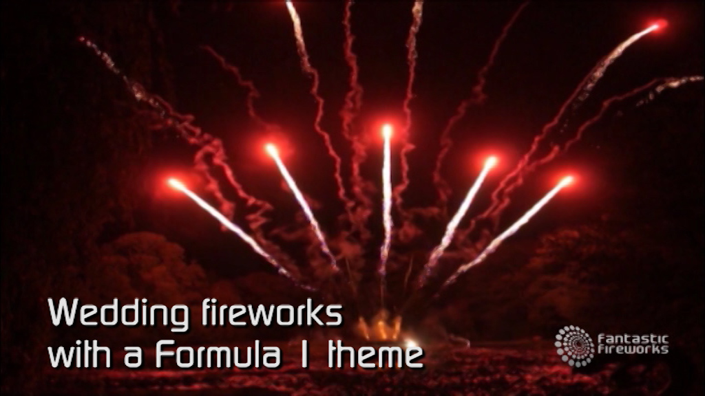 Professional Fireworks Displays | Wedding Fireworks with a Formula 1 theme