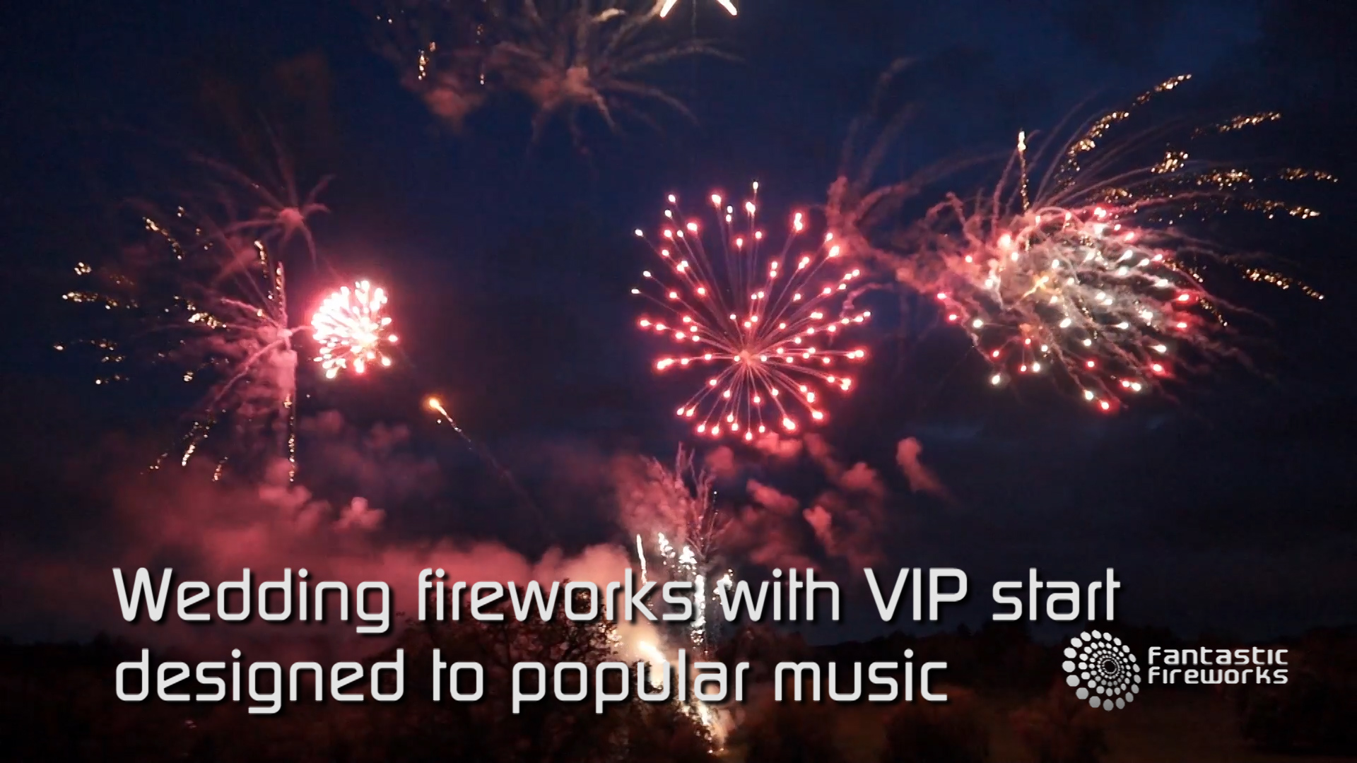 Wedding fireworks with VIP start