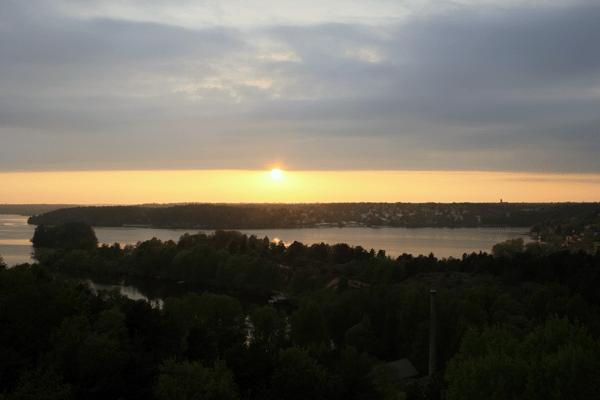 Vinterviken solnedgång