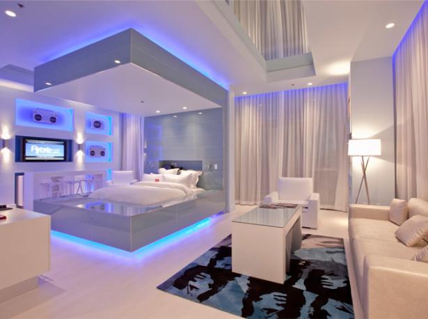 Cool Bedroom Ideas With Led Lights Novocom Top
