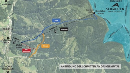 Officieel verbinding Zell Am See met Skicircus