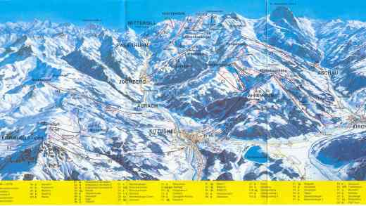 Skimap Kitzbühel 1987