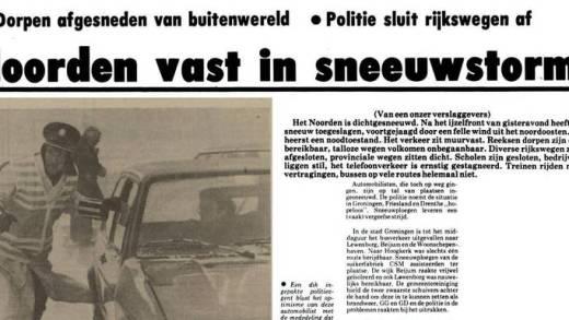 De winter van 1979 een sneeuwramp…