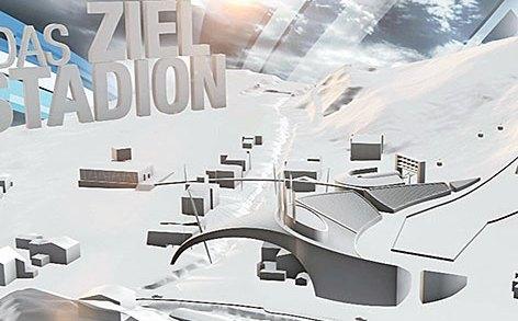 Das ziel station WK 2023 Saalbach