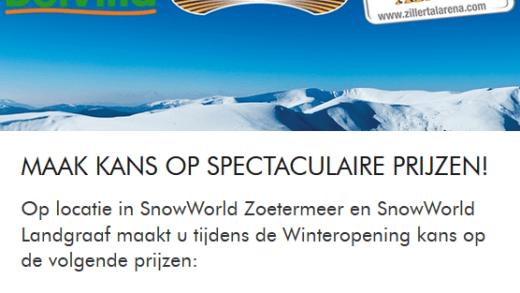 Snowworld opening prijzen