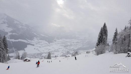 Rondje skiën in sneeuwrijk SkiWelt