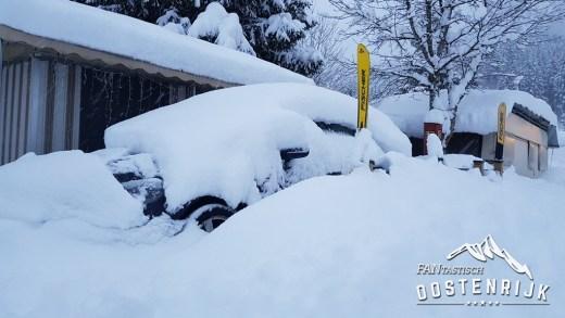 CampingWelt Brixen im Thale Sneeuwdump