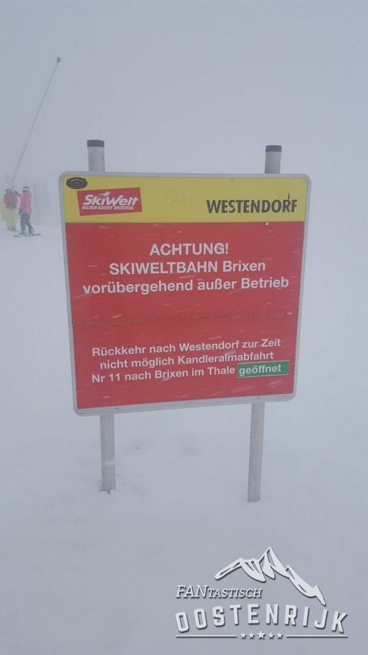 Skigebied dicht SkiWeltbahn