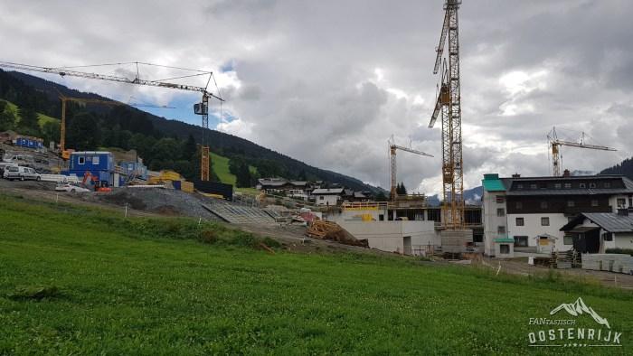 Saalbach Kohlmaisbahn in aanbouw
