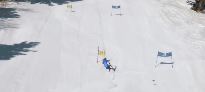 Skiër vs Drone